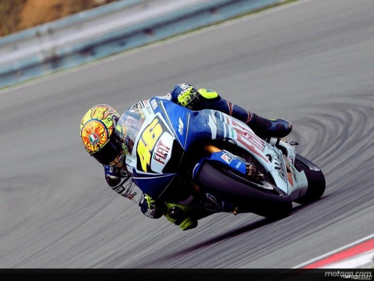 Valentino Rossi in action in Brno (MotoGP)