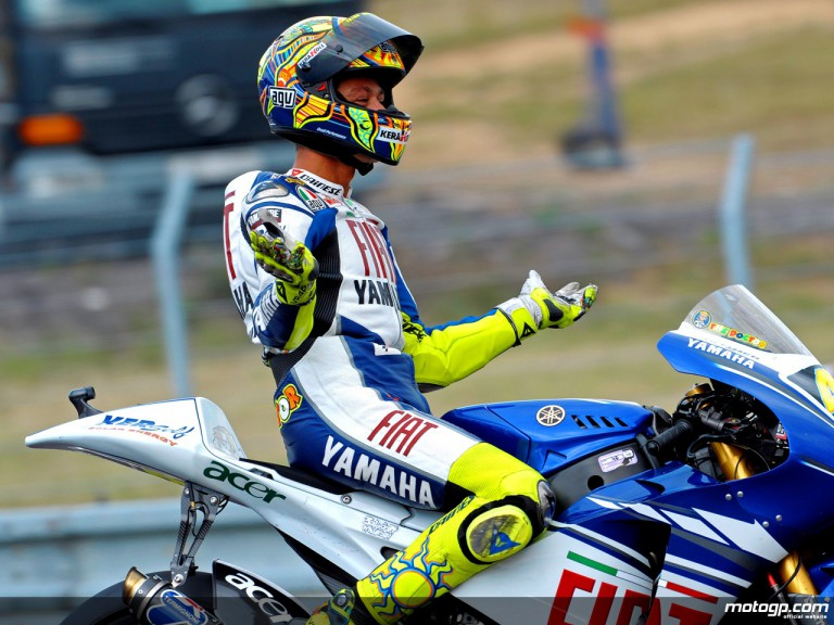 Valentino Rossi celebrating victory in Brno (MotoGP)