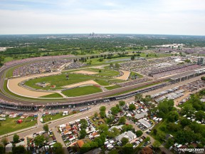 Aerial shot of the Indianapolis circuit