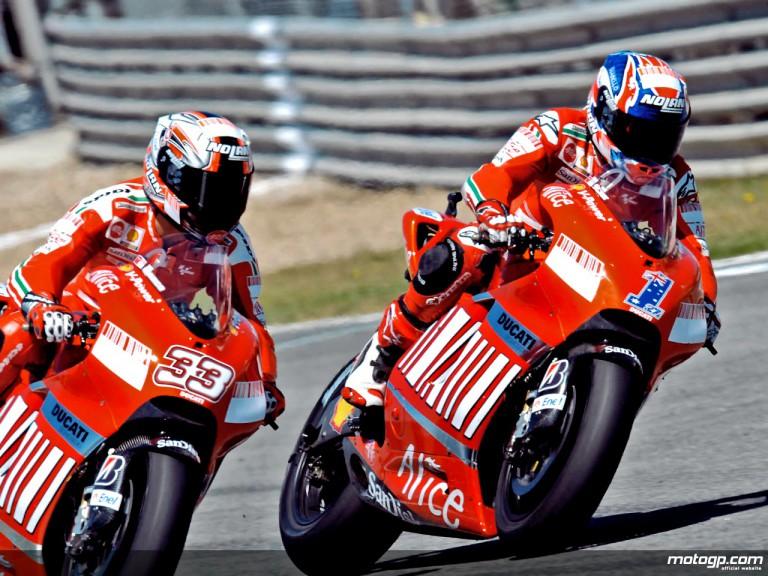 Ducati Marlboro riders Casey Stoner and Marco Melandri