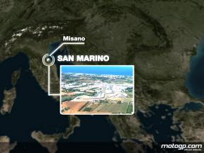 Misano circuit close up