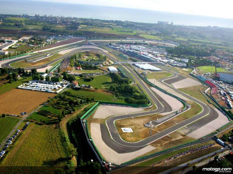 Aerial shot of the Misano circuit