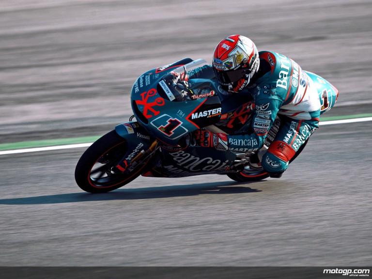 Gabor Talmacsi in action in Misano (125cc)
