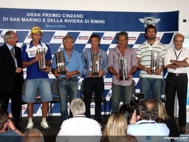 Italy´s MotoGP World Champions acknowledged at Misano
