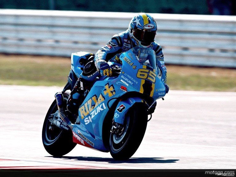 Loris Capirossi in action in Misano (MotoGP)