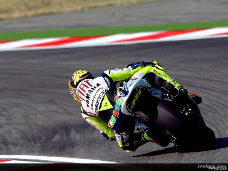 Valentino Rossi in action in Misano (MotoGP)