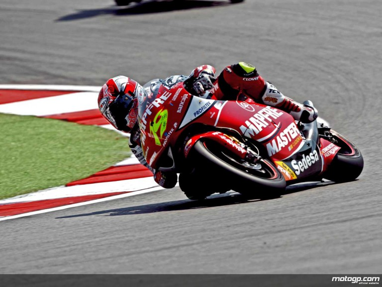 Alvaro Bautista in action in Misano (250cc)