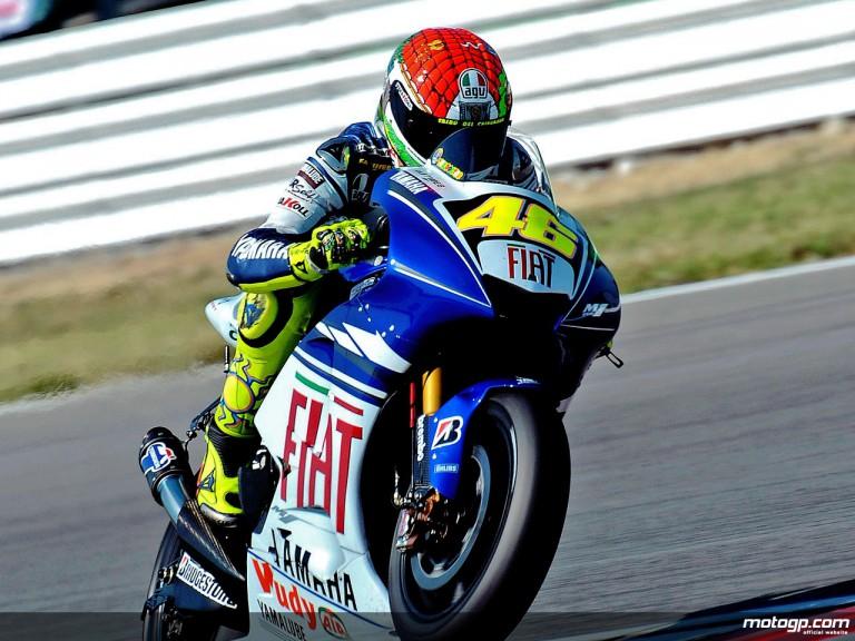 Valentino Rossi in action in Misano (MotoPG)