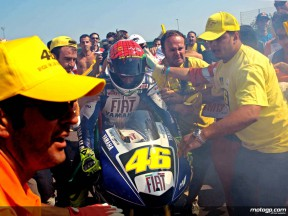 Rossi celebrates key win at Misano