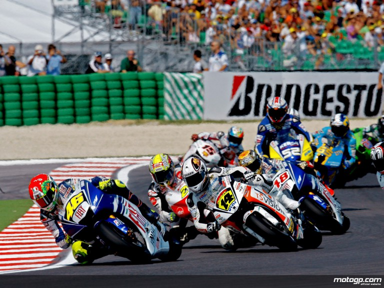 Moto GP group in action in Misano