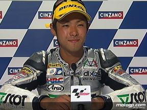 Yuki Takahashi interview after race in Misano