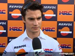 Repsol Honda´s Dani Pedrosa comments on his move to Bridgestone