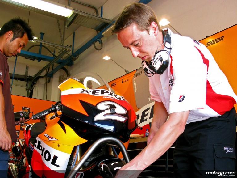 Dani Pedrosa debut run on Bridgestone tyres at Misano