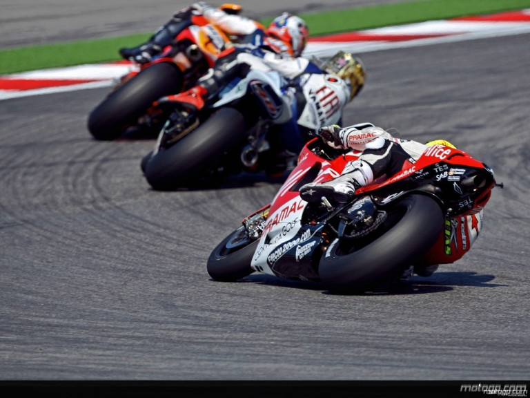 MotoGP Group in action in Misano