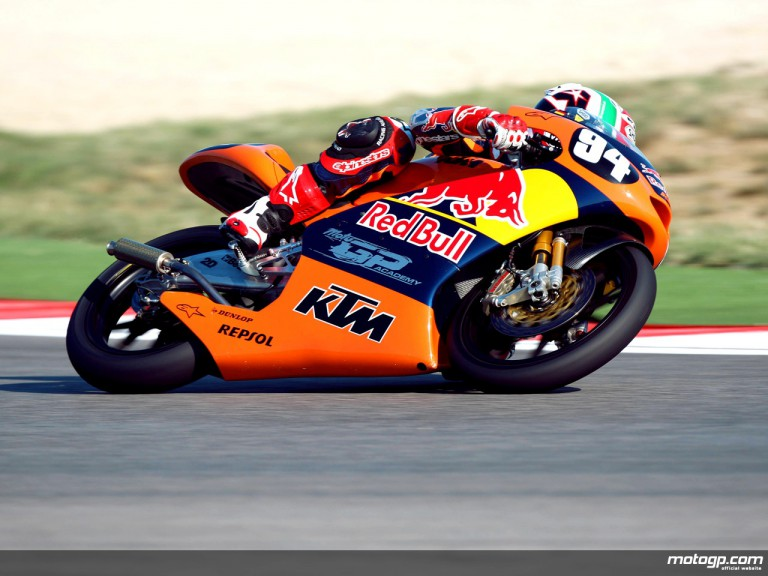 Jonas Folger in action in Misano (125cc)