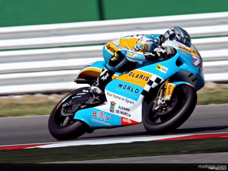 Mattia Pasini in action in Misano (250cc)