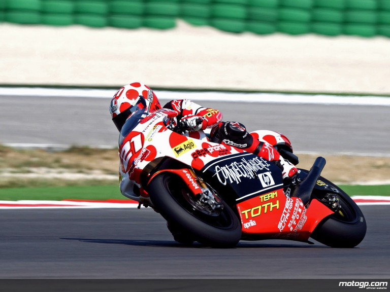 Hector Barberá in action in Misano (250cc)