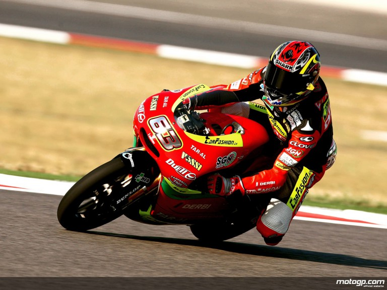 Mike di Meglio in action in Misano (125cc)