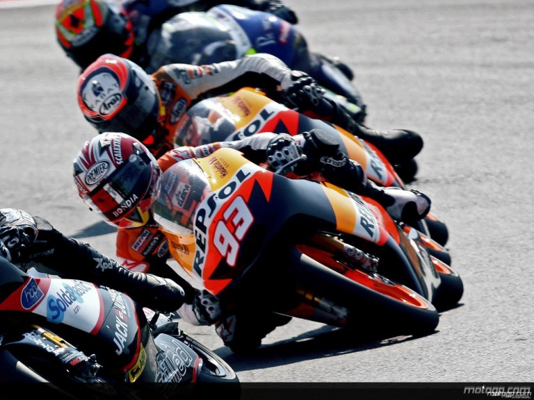 Marc Marquez in action in Misano (125cc)
