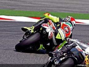 Marco Simoncelli in action in Misano (250cc)