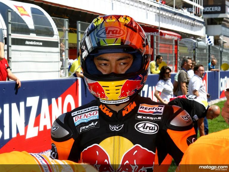 Red Bull KTM 250cc rider Hiroshi Aoyama