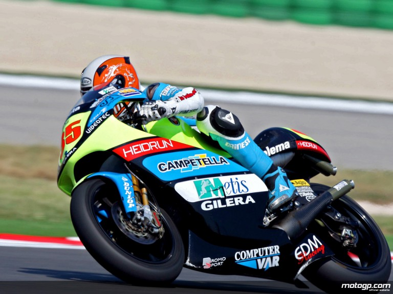 Simone Grotzkyj in action in Misano (250cc)