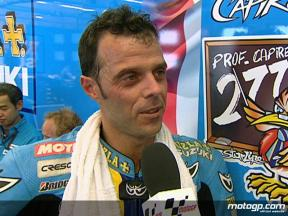 Capirossi on early setting problems