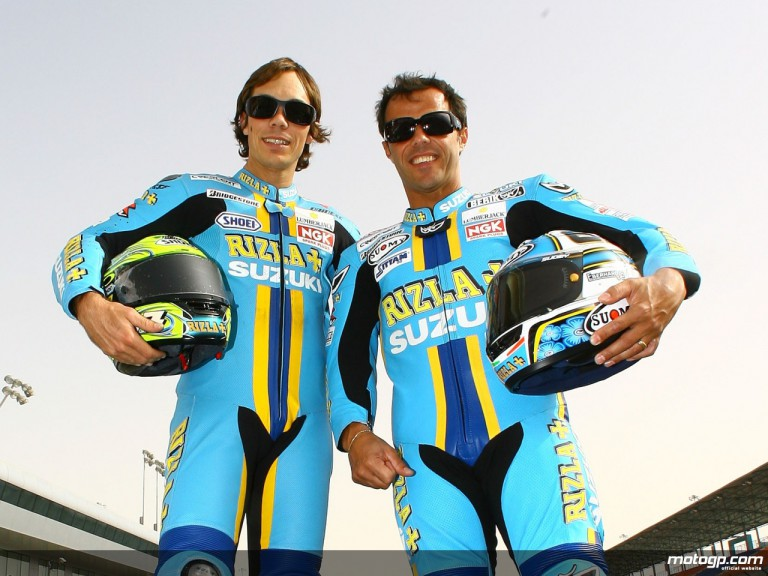 Rizla Suzuki´s Chris Vermeulen and Loris Capirossi