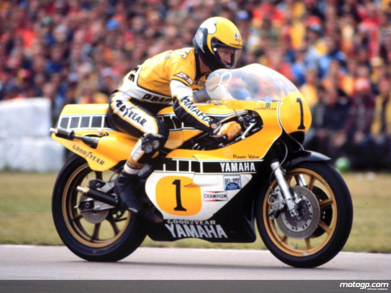`King´ Kenny Roberts on his way to his third straight 500cc title with Yamaha in 1980