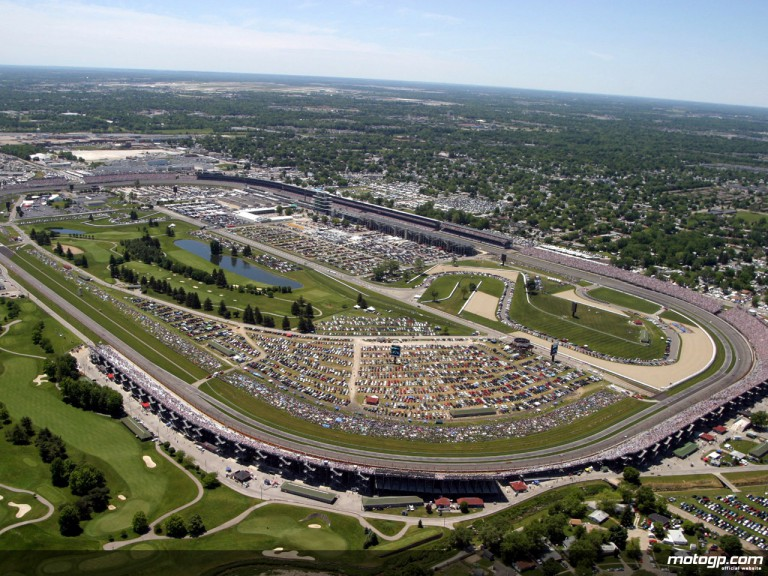 Aerial shot of the Indianapolis Motor Speedway