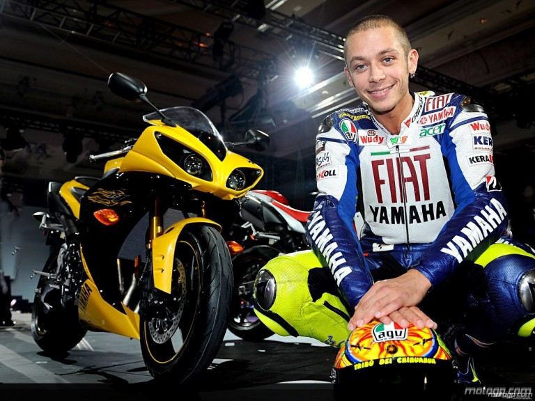 Valentino Rossi at R1 launch in Las Vegas