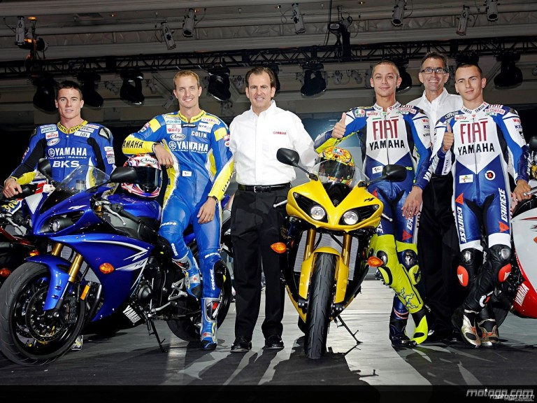 Yamaha rider line-up at R1 launch in Las Vegas