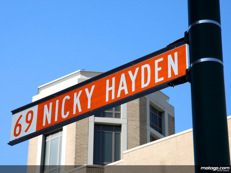 Nicky Hayden Street Sign in Indianapolis