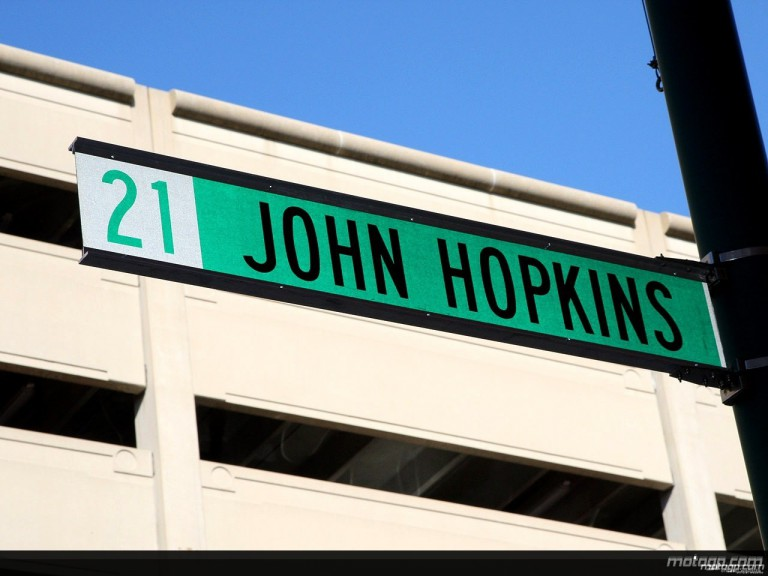 John Hopkins Street Sign in Indianapolis