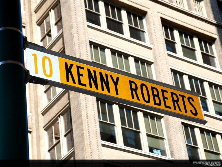 Kenny Roberts Street Sign in Indianapolis