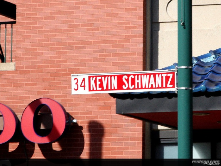 Kevin Schwantz Street Sign in Indianapolis
