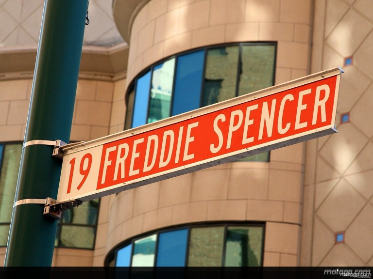 Freddie Spencer Street Sign in Indianapolis