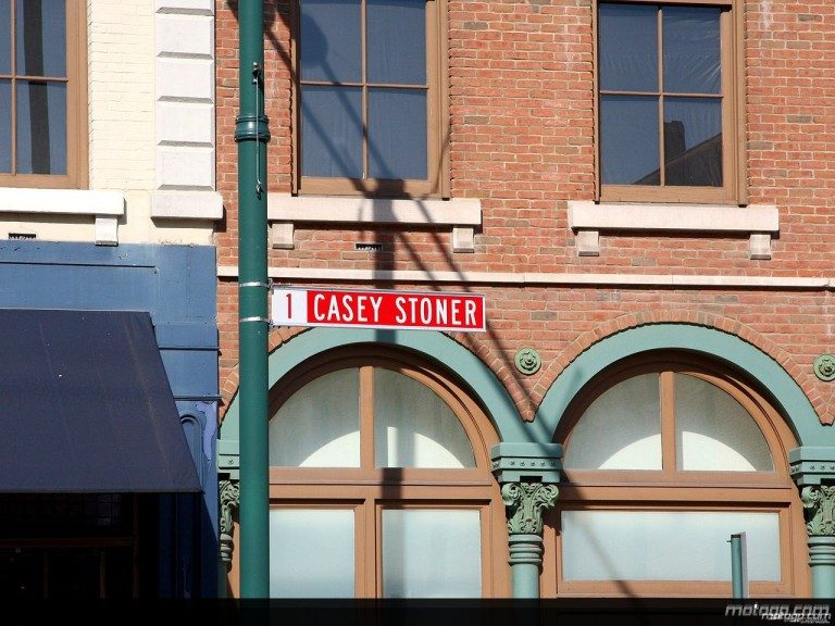 Casey Stoner Street Sign in Indianapolis