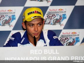 Valentino Rossi at the Red Bull Indianapolis Grand Prix Press Conference