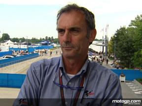 Franco Uncini on Safety Commission inspection at IMS