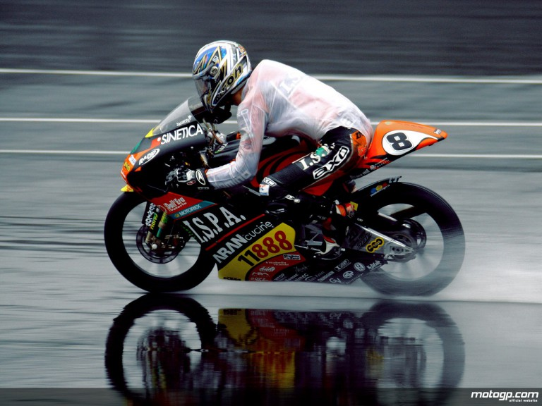 Lorenzo Zanetti in action at Indianapolis (125cc)