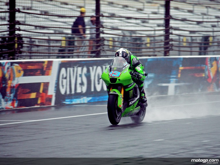 Anthony West in action at Indianapolis