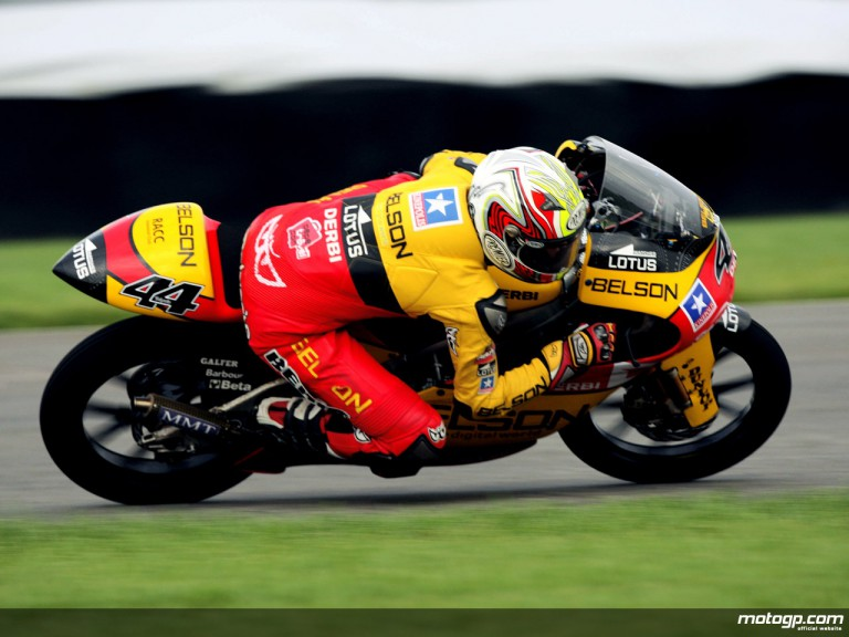 Pol Espargaró in action at Indianapolis (125cc)