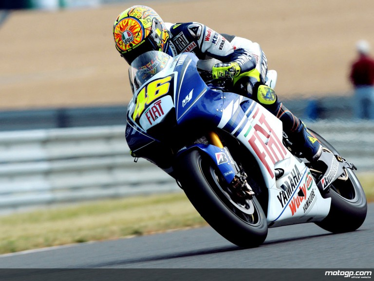 Valentino Rossi in action (MotoGP)