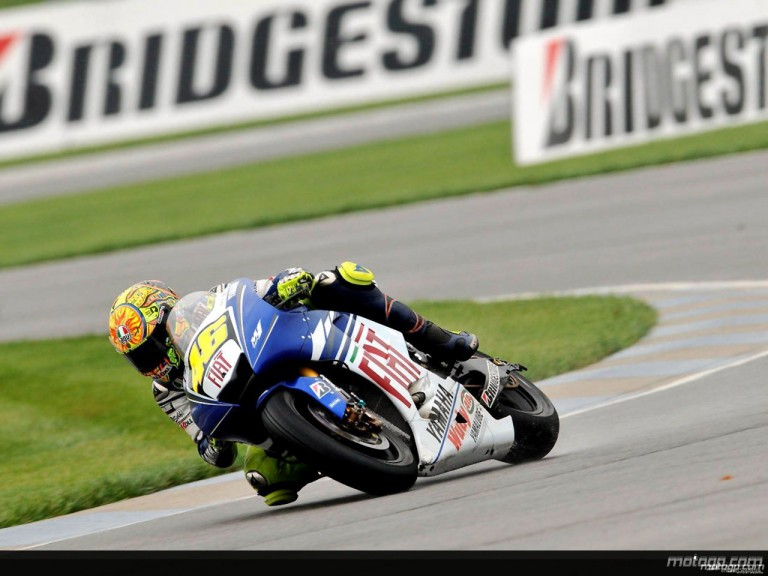 Valentino Rossi on track in IMS practice
