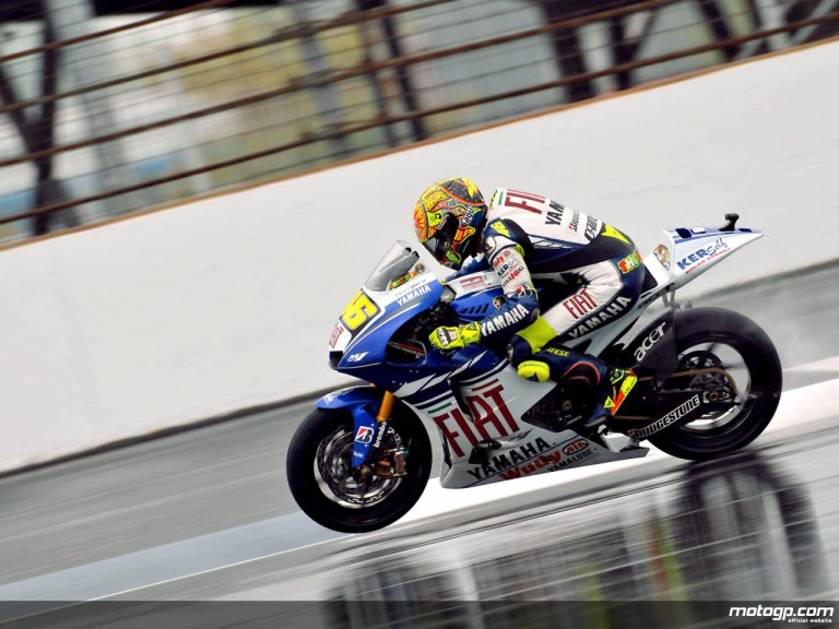 Valentino Rossi during free practice at Indianapolis