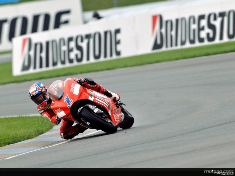 Casey Stoner on track in IMS practice