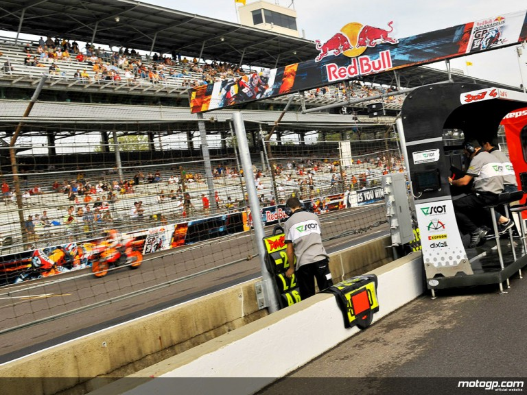 From the pitlane, at the Indianapolis Motor Speedway