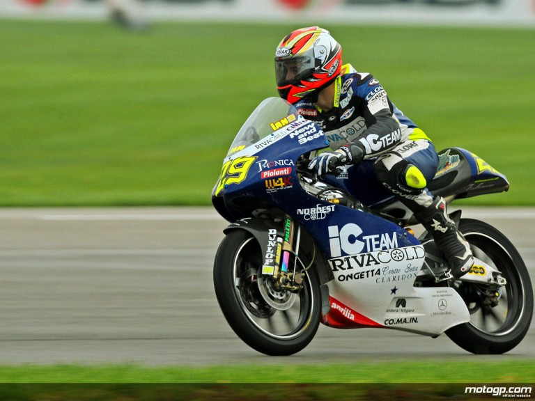 Andrea Iannone in action at Indianapolis (125cc)