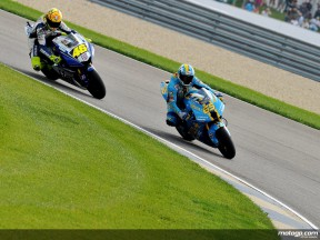 Loris Capirossi and Valentino Rossi during Qualifying Practice at Indianapolis